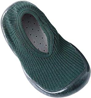 Antideslizante Calcetines Calcetines de Niño Color sólido Calcetines de pie Zapatos de Fondo Suave Calcetines de Unisex Bebé