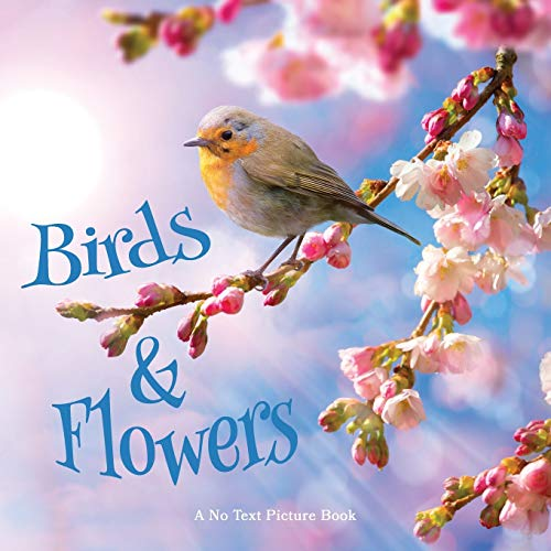 Birds and Flowers, A No Text Picture Book: A Calming Gift for Alzheimer...