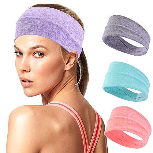 PKYGXZ Übung Fitness Stirnbänder 4pcs Sport Stirnband Fitness Yoga Beam Schweißabsorbierendes Stirnband Outdoor Freizeit Haarband Einfarbiges Stirnband 4pcs