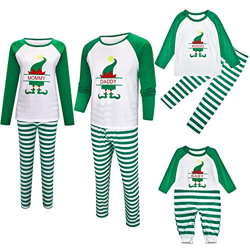 Weihnachtsfamilie Passende Pyjama Sets, Pyjama Set Ferien Langarm Nachtwäsche Set for Männer Frauen Kinder-Baby (Size : Kids 70(9-12M))