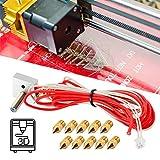 Mavis Laven 3D Printer Nozzles 1.75mm//0.4mm 3D Printer Accessory 10Pcs 0.4mm Print Head MK8 Brass Extruder Nozzle for 3D Printer CR-10 A8