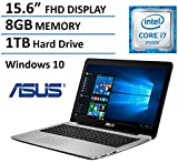 ASUS 15.6' Full HD High Performance Laptop 2016 Flagship Edition, Intel Core i7-5500U 3GHz, 8GB Ram, 1TB HDD, DVD Burner, HDMI, VGA, Webcam, Windows 10