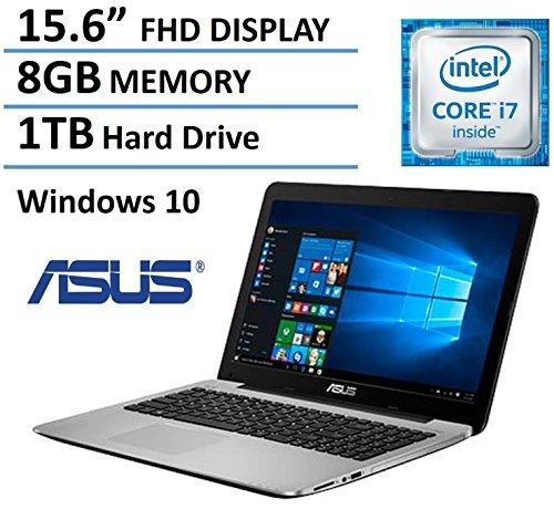 ASUS 15.6' Full HD High Performance Laptop 2016 Flagship Edition, Intel Core i7-5500U 3GHz, 8GB Ram, 1TB HDD, DVD Burner, HDMI, VGA, Webcam, Windows 10
