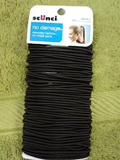 Scunci No Damage Hair Ties, Brown, 100 count