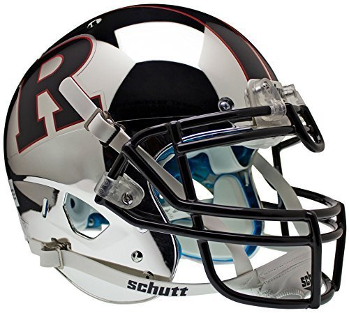 RUTGERS SCARLET KNIGHTS Schutt AiR XP Full-Size AUTHENTIC Football Helmet (CHROME/BLACK) by ON-FIELD