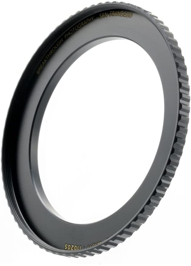 Made Of CNC Machined Brass With Matte Black Electroplated Finish Breakthrough Photography 58mm to 77mm Step-Up Lens Adapter Ring For Filters