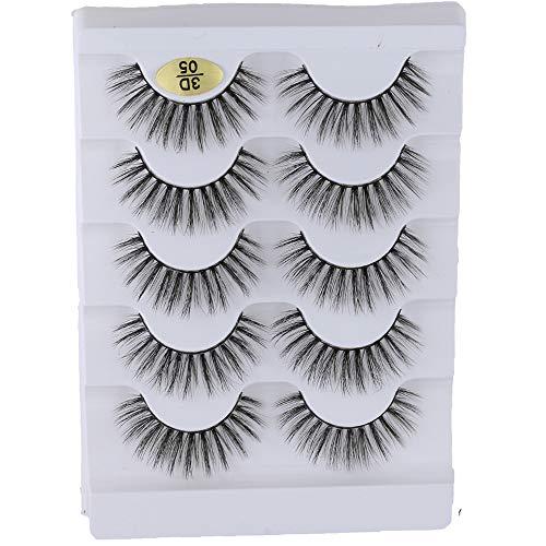zum Einbinden Fluffy Multilayers Multi styles Wispy Flared Erweiterung der Augenlast Falsche Augenbrauen 3D Faux Mink Hair Kreuz -Kreuz(3D-05)