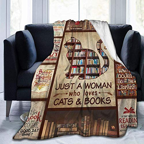 CHUNXU Manta de forro polar – Books Just A Woman – Manta de forro polar súper suave ultra suave para cama de 152 x 127 cm