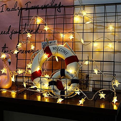 HLY Lámparas sencillas, luces de Navidad Bola redonda LED Luces Luces Star Festive Linternas Luces de hadas para DIY Girls Dormitorio USB Enchufe en luces de alimentación Luces de decoración de habit