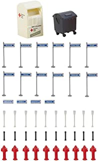 Faller FA 180450 - Street Signs with Accessories Accessories for Model Railway, Model Making