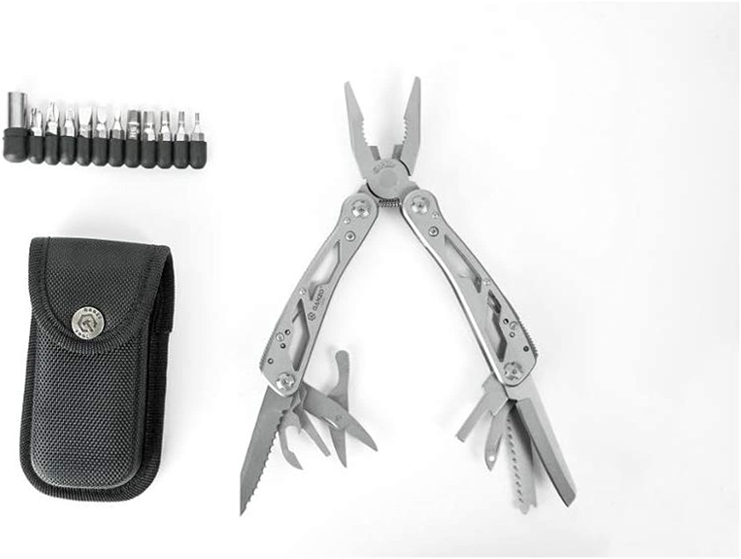 IACCSS Firebird G202 24 in 1 Hand Tool Kit Portable Plier,Stainless Multi Tools Pocket Folding Knife Pliers Clamp Multi Plier G202 Without Box