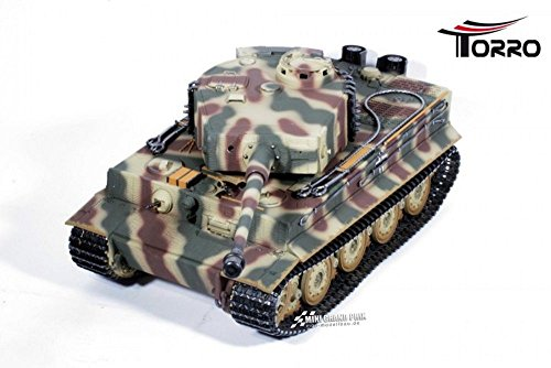 TORRO 3818-D1 - Tiger I. Späte Ausführung Metall Profi-Edition BB Version Panzer Tarn, Ferngesteuerte Modelle und Zubehör