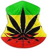 WlQshop Weed Stoner Flag Pattern Unisex Fleece Neck Warmer Face Warmer Neck Tube Neck Scarf Warmer Schals