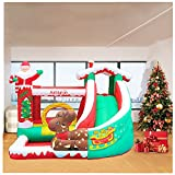 Inflatable Bounce House, Jumping Castle W/ Slide, Large Jumping Area, Ocean Ball Pool, Including Heavy-Duty Blower,Storage Bag,Bouncer Stakes, Kids Bouncy Castle for Indoor Outdoor (Multicolour)