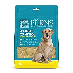 Developed by Veterinary Surgeon John Burns Based on the award-winning Weight Control recipe Use alongside a weight control plan or as a healthier treat Low in calories Easy to digest Handy, resealable 200 g pouch