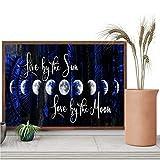 Poster in tela con scritta 'Stay Wild Moon Child', con scritta 'What I Do But The Moon Knows Printing' (lingua italiana non garantita) e 'Fasi della Luna', senza cornice, 30,5 x 45,7 cm