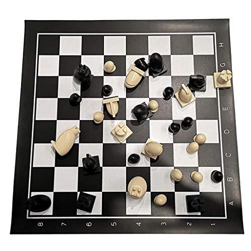 JHSHENGSHI Ajedrez Juego de ajedrez de plástico con Bolsa de Cuero de Alta Gama Tablero de ajedrez de Torneo Juegos educativos Tablero para ajedrez Juego de ajedrez de Regalo (Juego de ajedrez)