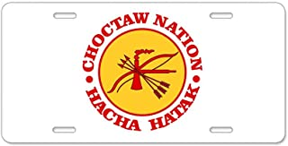 CafePress Choctaw Nation Aluminum License Plate, Front License Plate, Vanity Tag