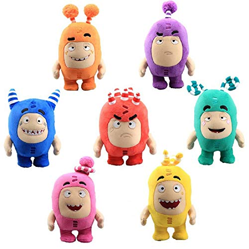 siqiwl Plüschtier 7pcs / Lot Cartoon Oddbods Spielzeug Für Kinder Anime Plüschtier Kuscheltiere Oddbod Fuse Bubbles Zeke Jeff Doll Zum Geburtstagsgeschenk