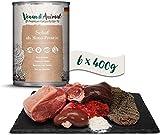 Venandi Animal Premium Nassfutter für Katzen, Schaf als Monoprotein 6 x 400 g, getreidefrei und naturbelassen, 2.4 kg