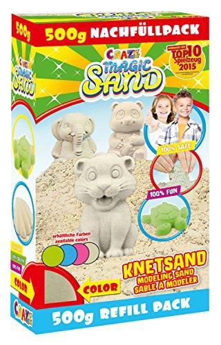Craze 52670 Magic Sand Refill-pack, ca. 500 g gesorteerde kleuren Refill-Pack 59761 500 g Kleurrijk speelzand.