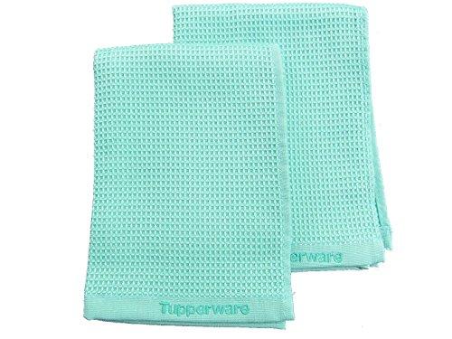 Tupperware–Cristal Brillante Turquesa T22Ventana (2) paño de Microfibra