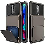 Yunerz LG Stylo 5 Case, LG Stylo 5+ Wallet Case, LG Stylo 5V Card Holder Dual Layer Protective Case with Card Wallet Holder Slot for LG Stylo 5/LG Stylo 5 Plus(Black)