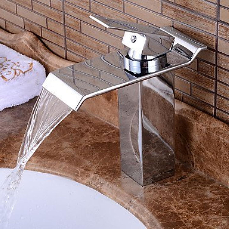SEEKSUNG Waschtischarmaturen Waschbecken Wasserhahn im zeitgenssischen Stil ein Loch heies und kaltes Wasser Hebelmischer