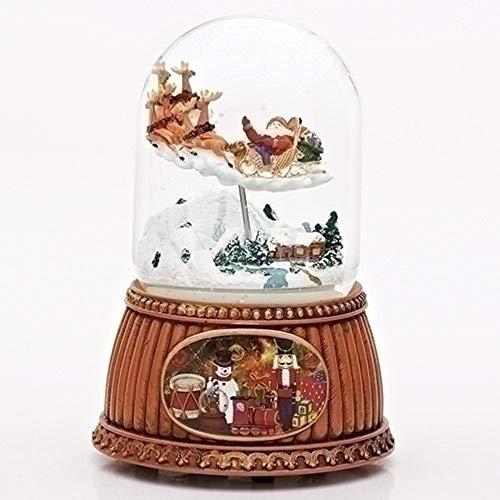 Roman Musical Santa Claus in Sleigh Water Snow Globe Plays Jingle Bells 100mm 6.25'