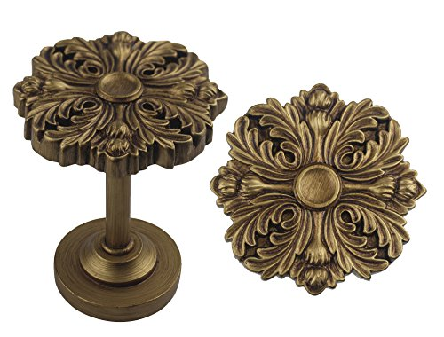 Urbanest Set of 2 Eve Medallion Drapery Holdbacks, Renaissance Gold