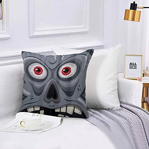 Lilatomer dekorativer Kissenbezug,Stuhl, Bettwäsche, Einzigartiges Hässliches Gesicht Open Brain HorrorKissenbezüge für Couch, (45 x 45 cm) mit unsichtbarem Reißverschluss