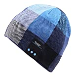 Mydeal Men Women Bluetooth Beanie Hat Cap with Stereo Speaker Headphones, Microphone, Hands Free and Rechargeable Battery for Outdoor Sports Skiing Snowboard Skating Jogging