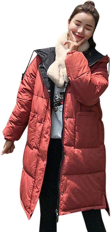 LisYOU Coats for Women Plus Size Short Zip Up Pockets Warm Windproof Slim Fur Hooded Down Coat Outerwear Cotton