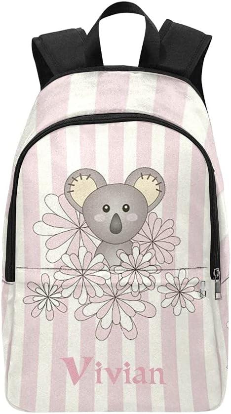 Personalized Cartoon Koala Free Shipping New Pink Backpack Waterproof free shipping StripeName T
