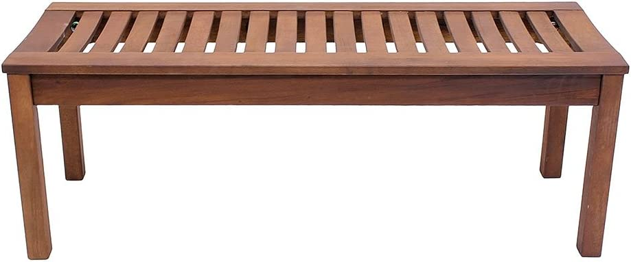 Achla Designs Backless Bench, 4-Foot - OFB-08 : Outdoor Benches : Patio, Lawn & Garden