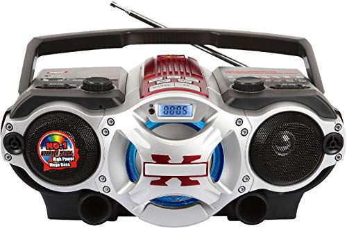 Supersonic - Bluetooth Portable MP3 Player with USB/SD/Aux Inputs & AM/FM Radio, Boomboxes - Black (SC-1495BT)