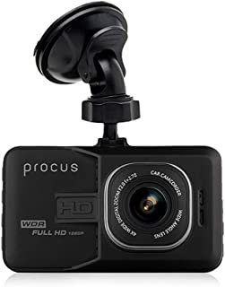 """Procus Convoy Car Dash Camera,FHD 1080P, 3"""" LCD Screen, 120° Wide Angle Lens, G-Sensor, Motion Detector, Loop Recording (Without SD Card)"""
