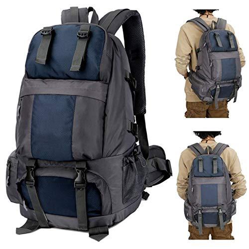 Belleashy Camping Backpack 50L Hiking Backpack Waterproof Outdoor Sport Travel Daypack Bag For Camping Trekking Travel Outdoor (Size:Free Size; Color:Dark Blue)