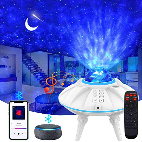 ZumYu Projecteur Ciel Étoile, [3 Styles & 30 Modèles de Couleurs], Musicale Commande Minuterie avec Télécommande Enceinte Intégré pour Décoration des Chambres/Enfants/Adultes/Halloween/Noël/Fête