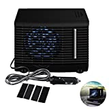 Premewish Mini Luftkühler für Auto,DC 12V Mobiles Klimageräte Kühler Lüfter Wasser Eis...