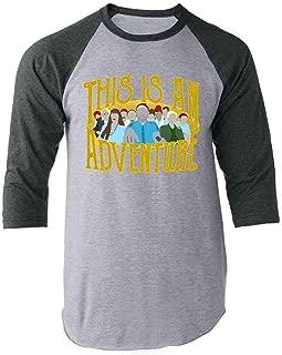 This is an Adventure Minimalist Raglan Baseball Tee Shirt