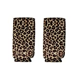 2pcs Neoprene Slim Beer Can Cooler Tall Stubby Holder Foldable Stubby Holders Beer Cooler Bags Fits 12oz Slim Energy Drink & Beer (Leopard)