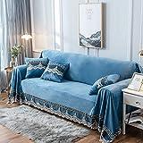 XQWZM 1 Pieza Felpa Cubierta del Sofá,Decorativo Protector DE Muebles,Todo-Incluido Silla Couch Slipcover,para Salón 3 Seater Couch-El Parang 200x380cm(79x150inch)