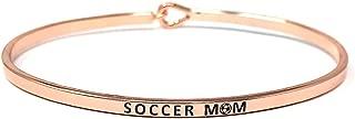 Mom Inspirational Messages Engraved Thin Bangle Hook Bracelets