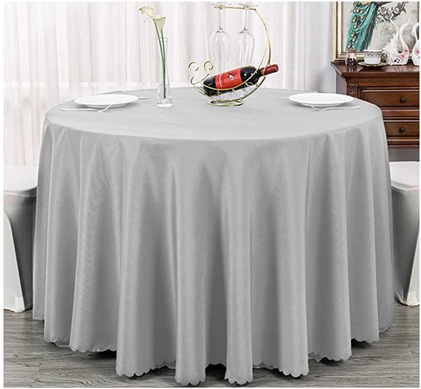 Round Fall Tablecloth Black White Blue Red Pink Grey Teal Gray Turquoise Cloth For Banquet Party Patio Kitchen By DANLIA