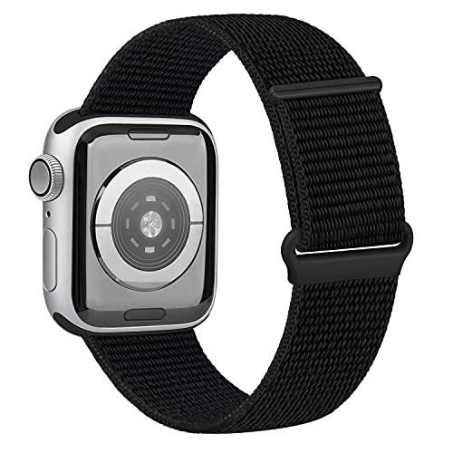 OUBK Correa Compatible con Apple Watch 44mm 42mm 38mm 40mm,Pulseras de Repuesto de Correa para iWatch Series SE 6 5 4 3 2 1,Mujer y Hombre(38mm/40mm,Negro)