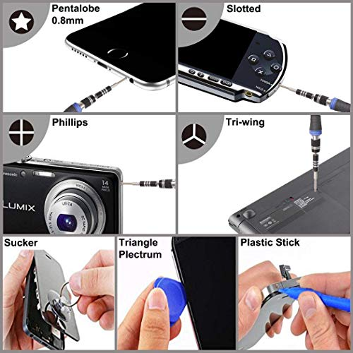 Preciva 37 in 1 Magnetic Screwdriver Kit, Precision Driver Kit Electronic Repair Tool with 28 Bits, Flexible Shaft, Extension Rod for Mobile Phone, Smart phone, Game Console, Tablet, PC Repairing.