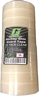 10 Pack Clear Hockey Shin Guard Tape by Good Gear | Thick & Strong Adhesive | Made in North America Specifically for Hockey