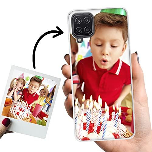 Phone Case Trends – Funda Samsung A12 5G Personalizada con Foto o Texto – Carcasa Personalizable de Gel Flexible para Móvil - Funda Transparente, Antigolpes y de Silicona - Impresión Directa en Funda