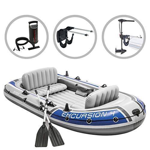 vidaXL Intext Schlauchboot Set Excursion 4 Compact mit Schleppmotor und Halterung